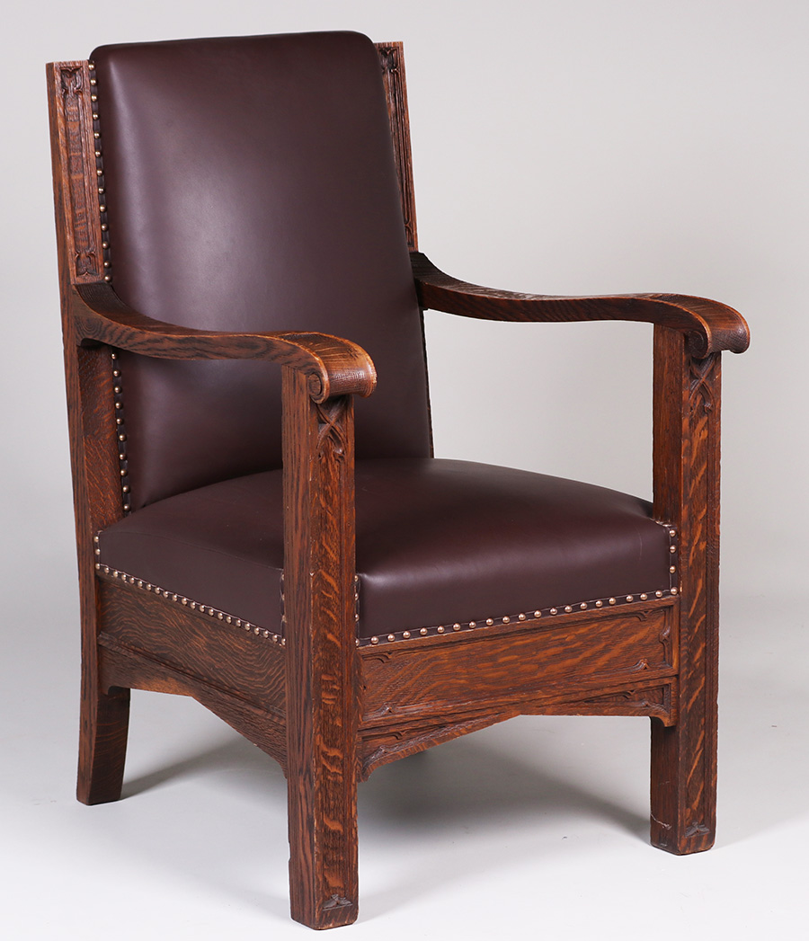 Mathews Furniture Shop Carved Oak Armchair C1912. Bonded Leather Sectional. Triangle End Table. Farmhouse Kitchens. Extra Long Tub. Martha Stewart Furniture. Beamed Ceiling. Types Of Roofs. Room Setup