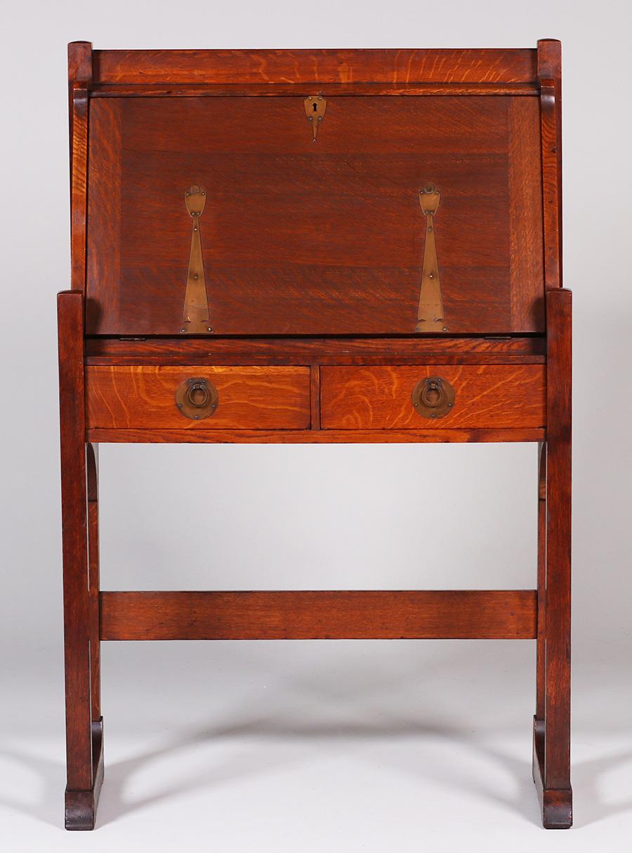 Stickley Brothers Drop Front Desk California Historical Design