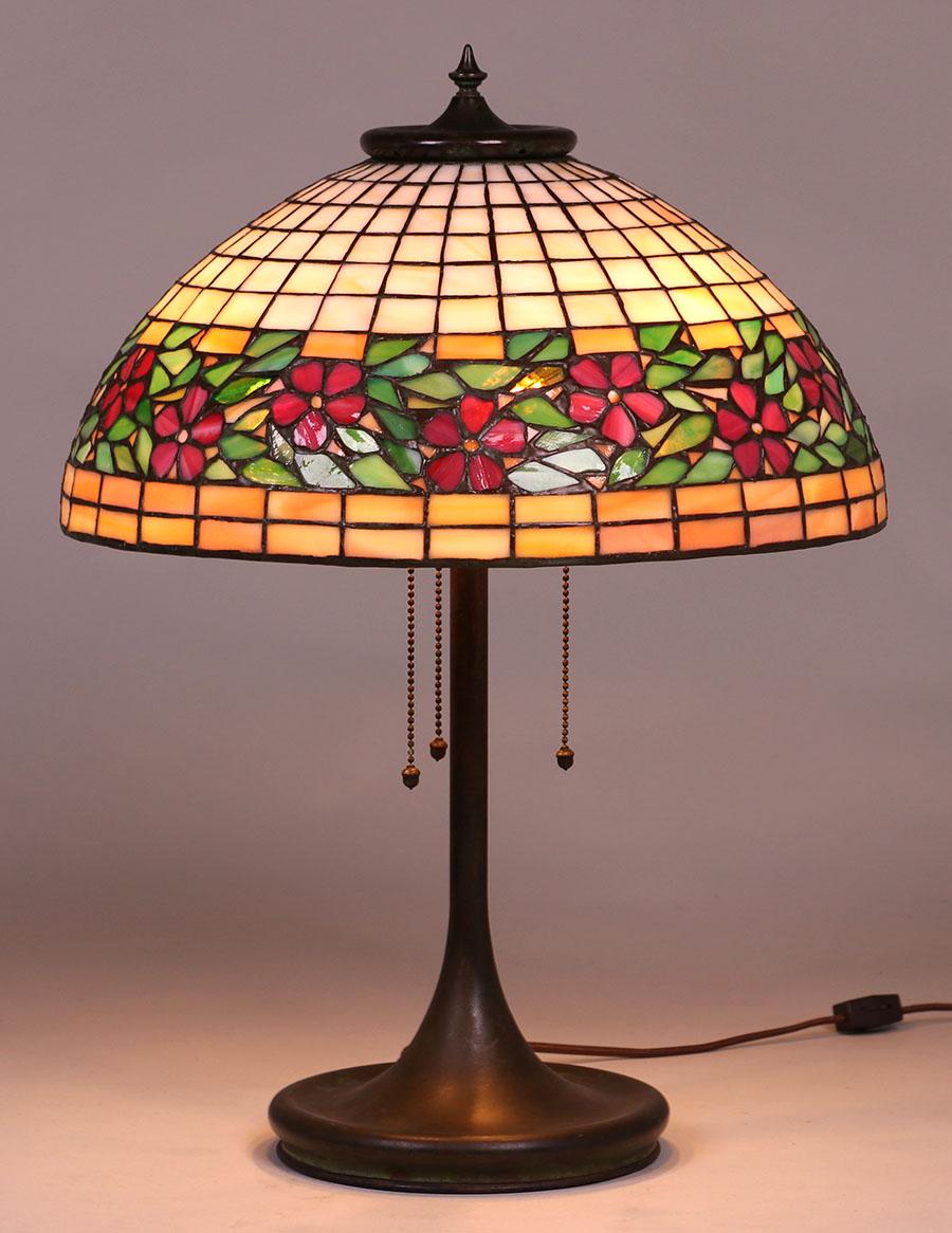 Unique Leaded Glass Lamp C1903 1910 California