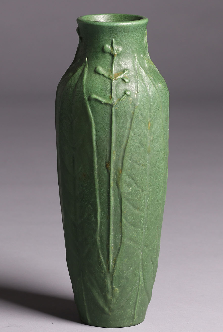 Wheatley Pottery Tall Matte Green Vase California Historical Design
