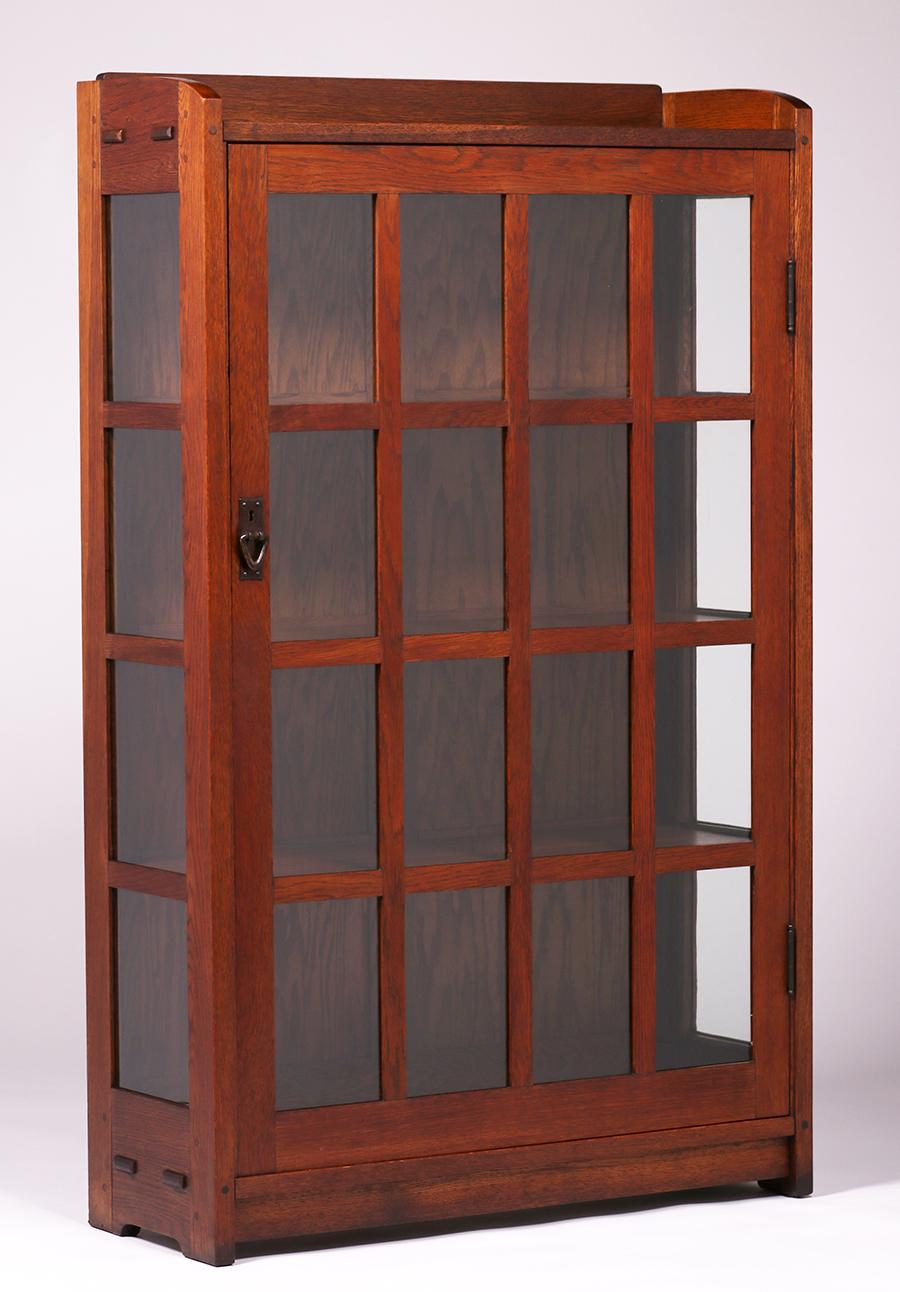 Gustav Stickley One Door China Cabinet