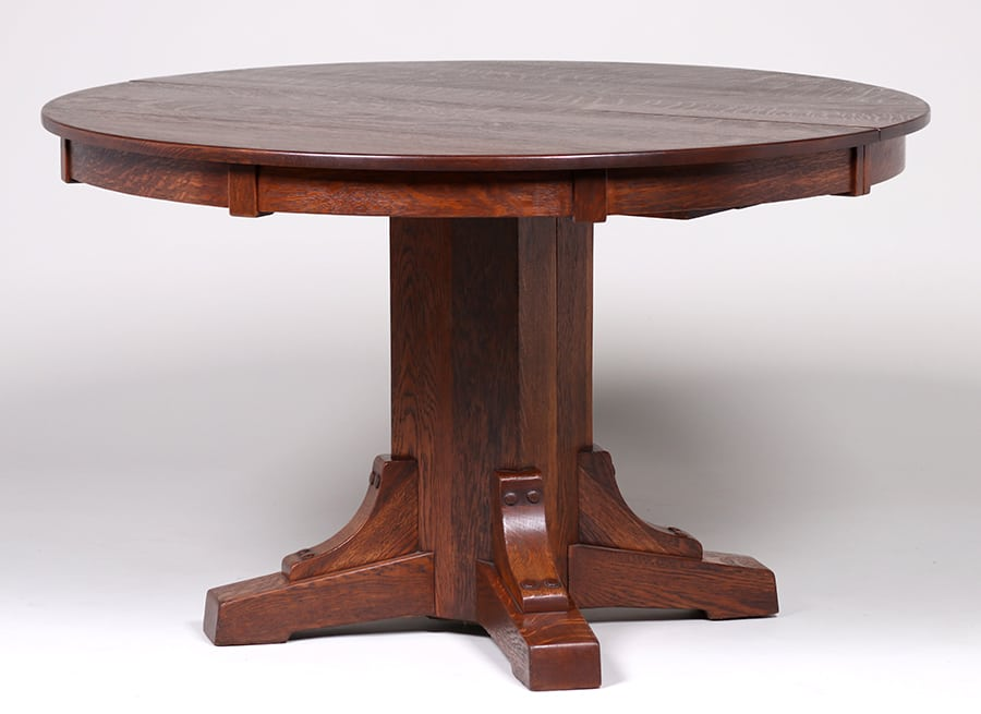 Stickley Brothers 48d Block Skirt Dining Table C1910