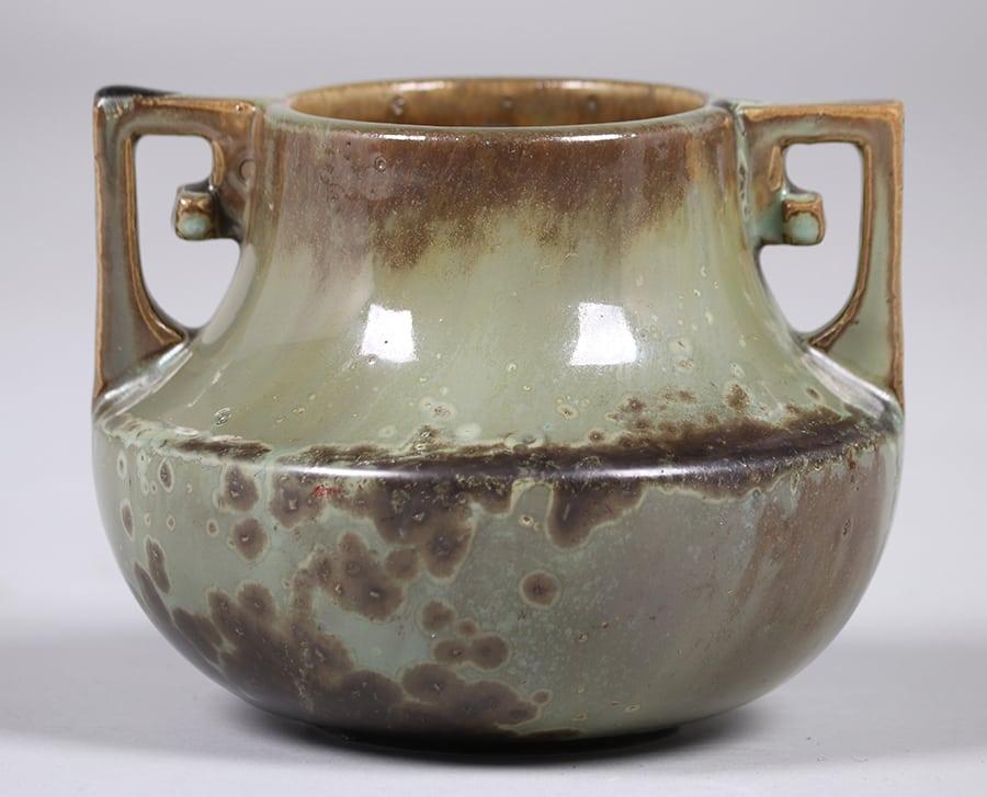 Fulper Pottery Two Handled Vase California Historical Design