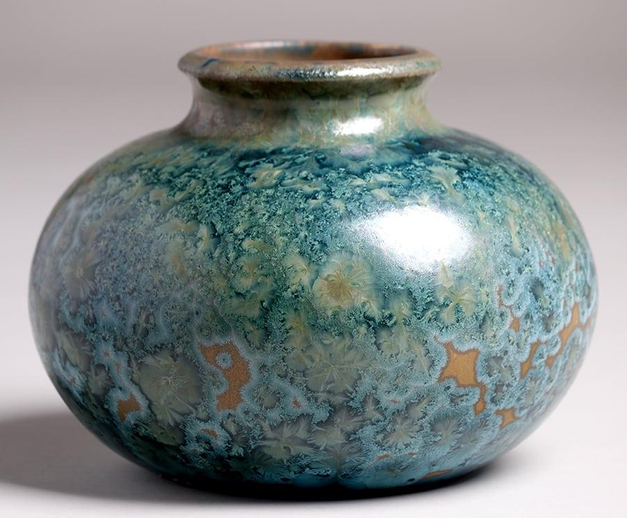 Pierrefonds Crystalline Vase California Historical Design