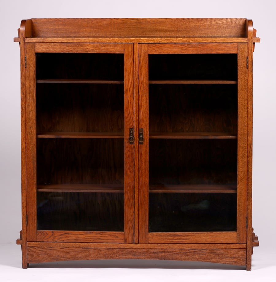 Grand Rapids Two Door Bookcase C1910 California
