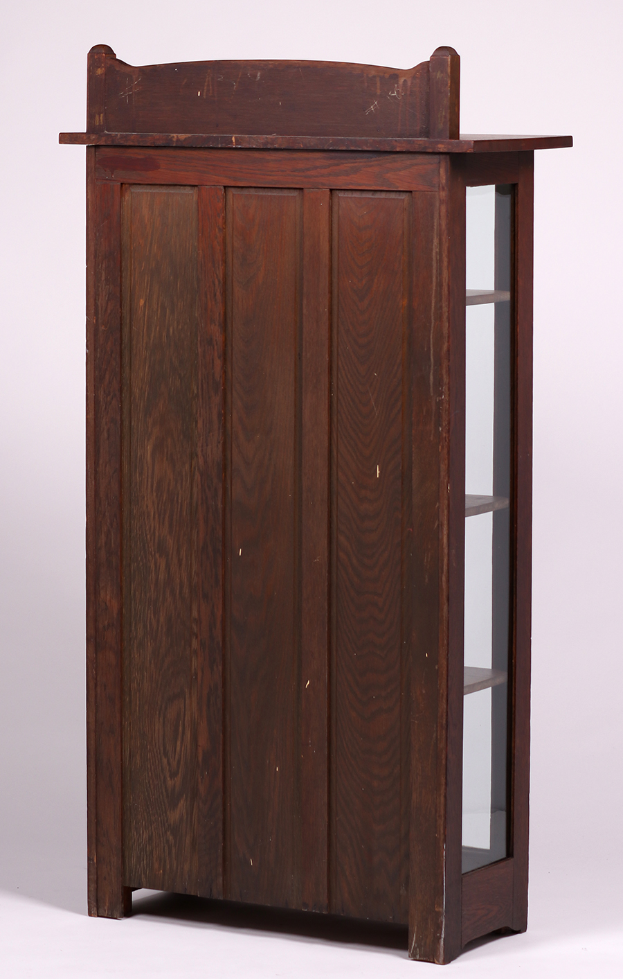 Tall Stickley Brothers Narrow Two Door China Cabinet C1910