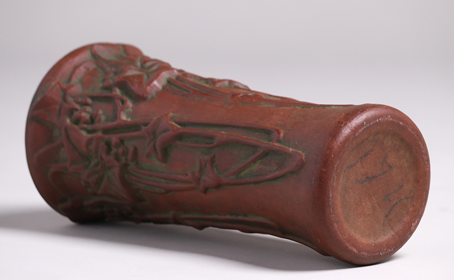 Peters And Reed Moss Aztec Vase C1912 California