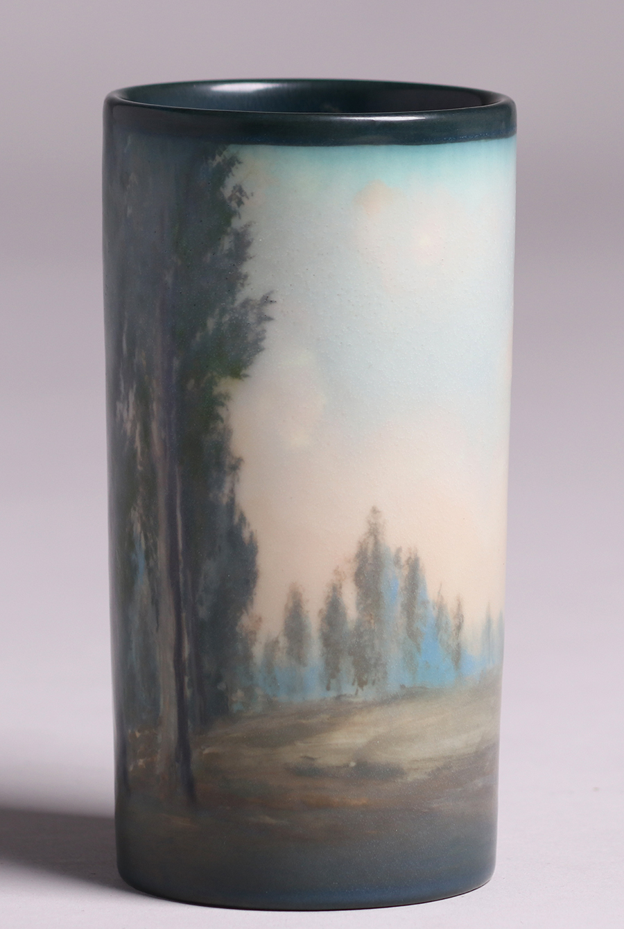 Rookwood Decorated Cylinderical Vase Ed Diers 1916