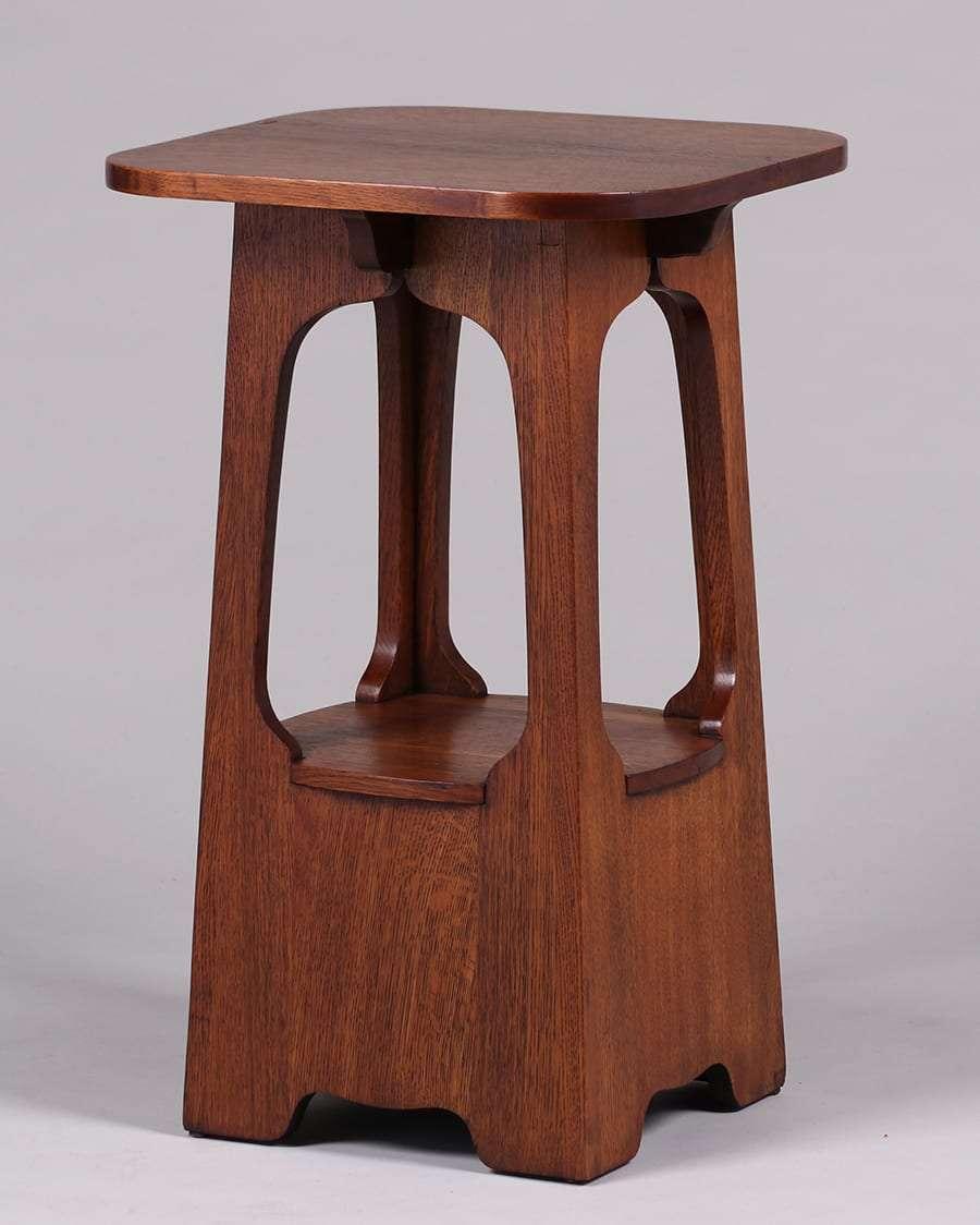 Brooks Furniture Co Pagoda Table C1910 California Historical Design