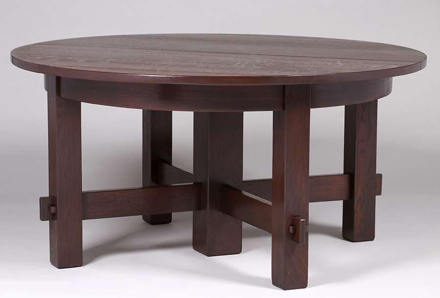 Early Gustav Stickley 60 Five Leg Dining Table C1902 With Seven 115w Skirted Leaves Four Original Three New Unsigned