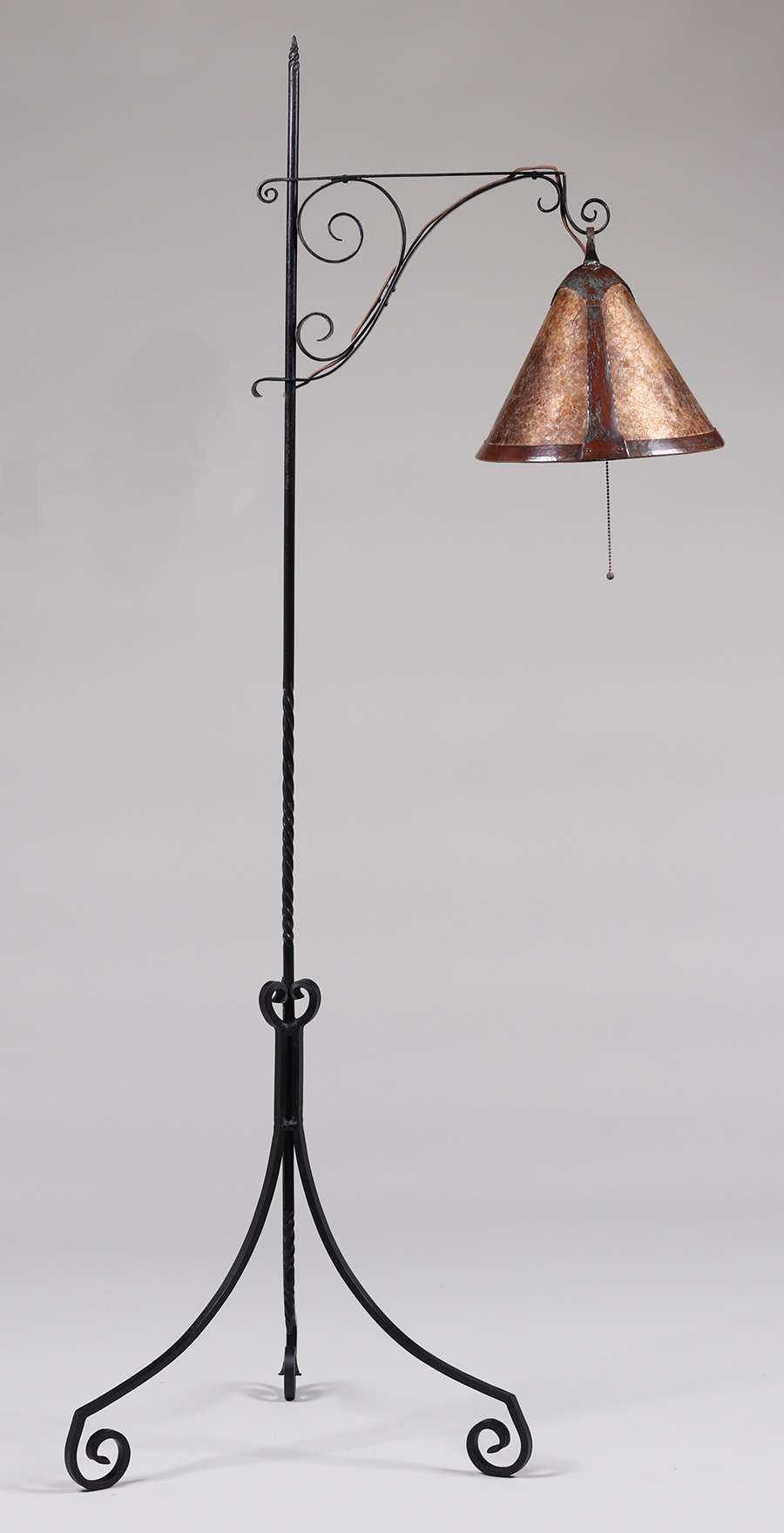 Harry Dixon Hand Forged Iron Copper Amp Mica Floor Lamp