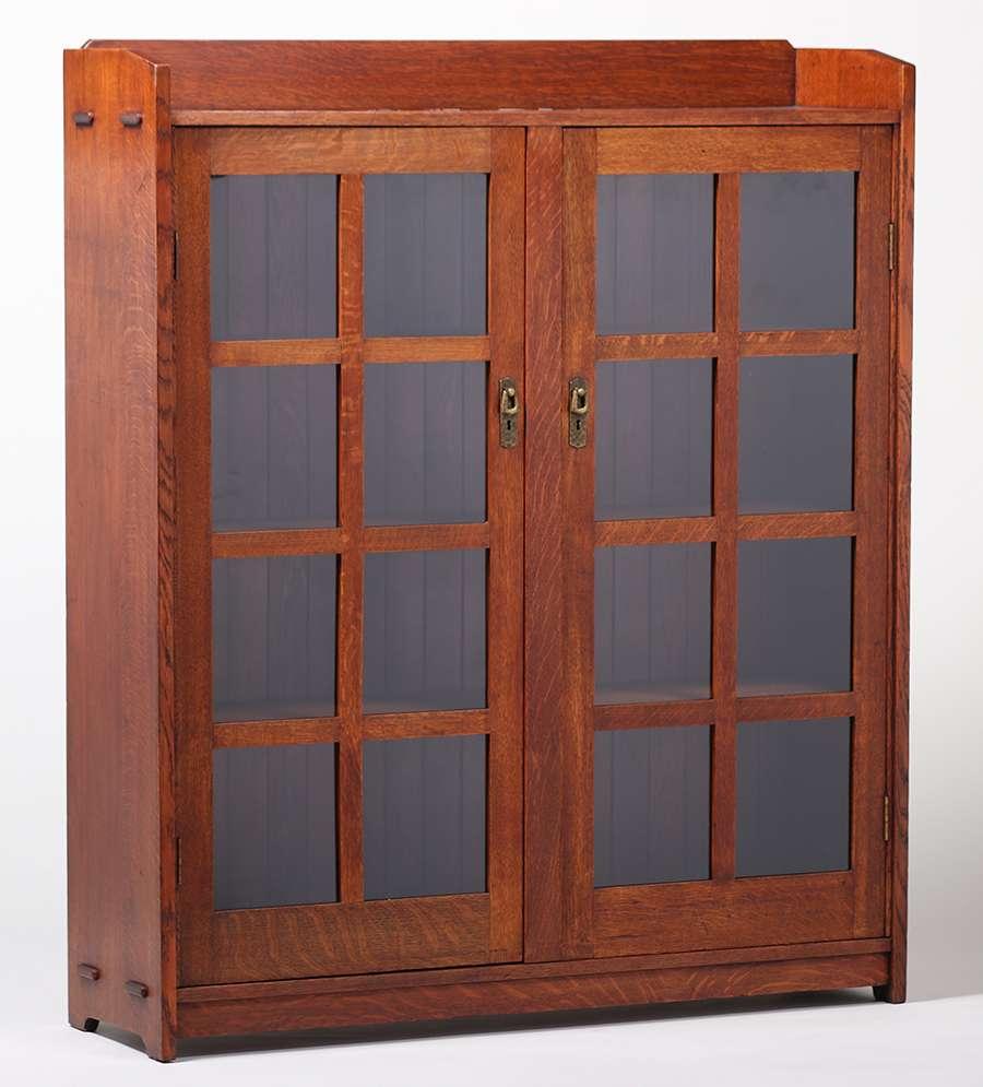 Lifetime Furniture Co Two Door Bookcase C1910