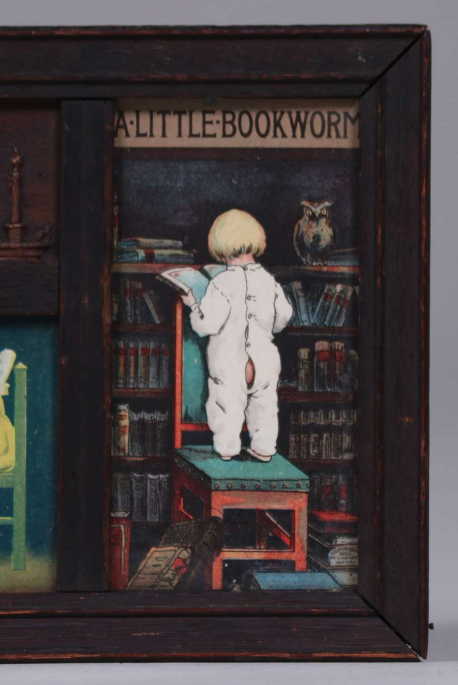 Arts Amp Crafts Print Quot Bedtime A Little Bookworm Quot C1910
