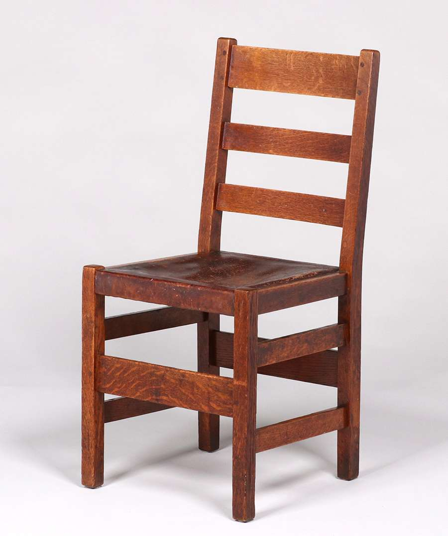 L Amp Jg Stickley Ladder Back Side Chair C1905 1907