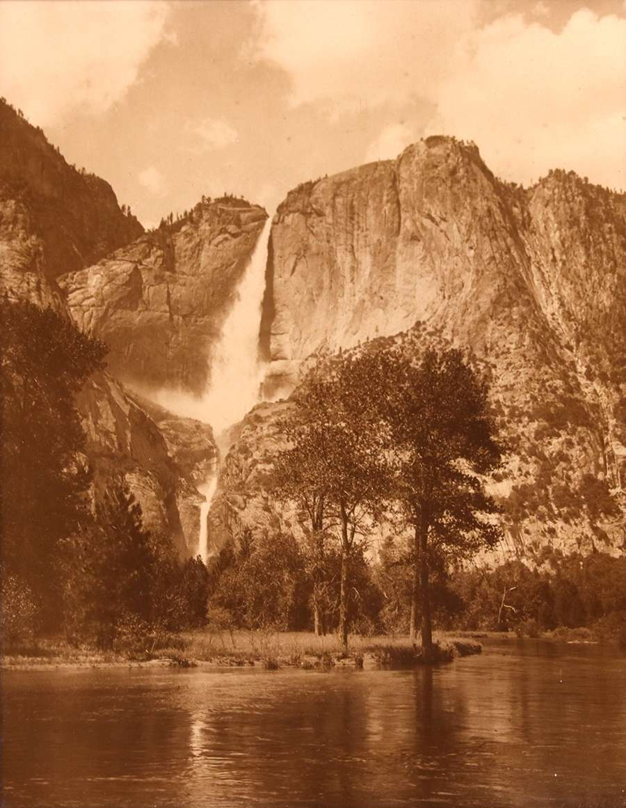 Arthur C Pillsbury Orotone Photo Yosemite Falls C1910