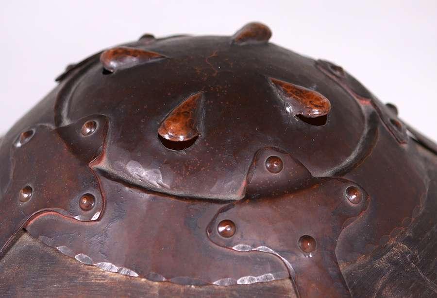 Early Dirk Van Erp Hammered Copper Amp Mica Lamp C1911 1912